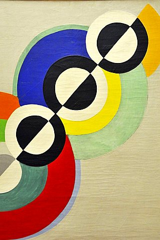 Rhythms, Robert Delaunay, Musee National d'Art Moderne, Centre Georges Pompidou, Beaubourg, Paris, Ile-de-France, France, Europe