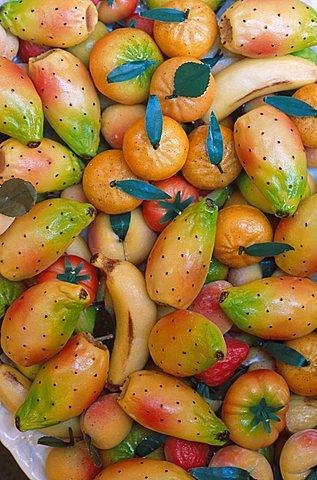 Martorana sweets, Fontanasalsa farm, Sicily, Italy