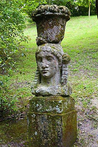 Statue, Parco dei Mostri monumental complex, Bomarzo, Lazio, Italy
