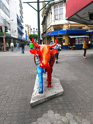 Cow Art, center of city, San Jose, Republic of Costa Rica, Central America