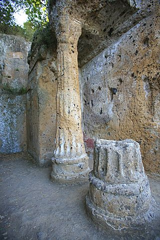 Ildebranda tomb, archeological site, Sovana, Grosseto, Italy, Europe