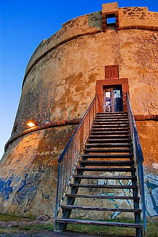 Tower of Isola Rossa, Bosa, Oristano, Sardinia, Italy, Europe