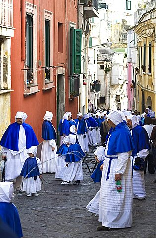 Holy Friday procession, Procida island, Campania, Italy, Europe