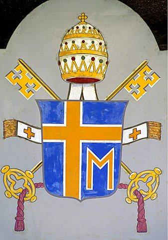 Bishop's banner, Modena, Emilia-Romagna, Italy