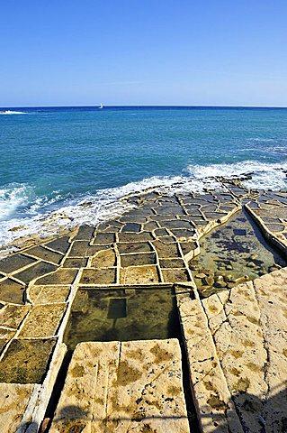 Salt pad, Marsaskala, Malta, Europe