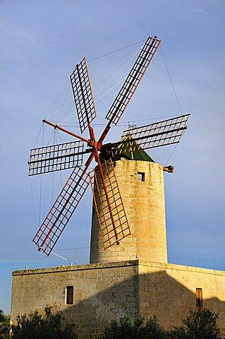 Windmill, Zurrieq. Malta. Europe.