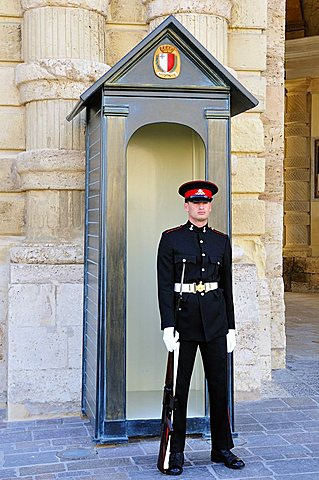 Guard at Grand Masters palace, Valletta, Malta, Europe