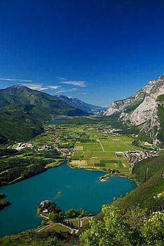Toblino Castle on Toblino lake, Trentino Alto Adige, Italy, Europe