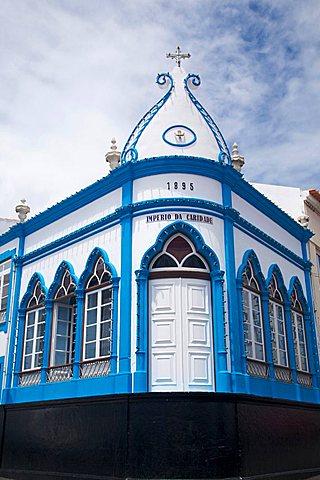 Imperios tipical house, Angra do Heroismo, Terceira, Azores Island, Portugal, Europe