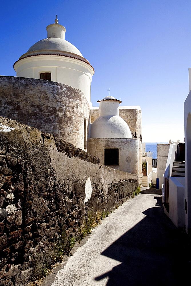 Church, Stromboli Island, Aeolian Islands, Sicily, Italy