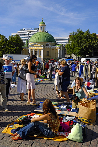 Kauppatori market square, Turku Abo, Finland, Scandinavia, Europe