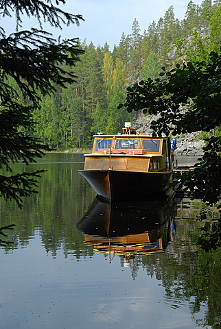 Boat, Repovesi National Park, Finland, Scandinavia, Europe
