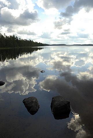 Lake shore, Finland, Scandinavia, Europe