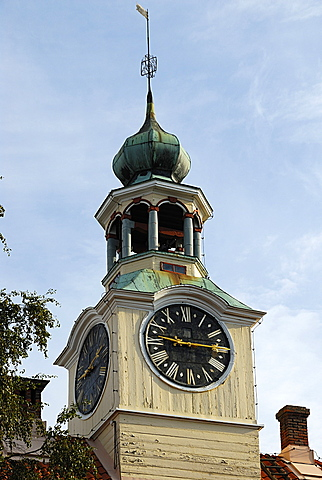 Wooden town hall in old town, Rauma, Satakunta, Finland, Scandinavia, Europe