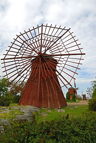 Windmill, Myllymaki hill, Uusikaupunki, Finland Proper, Finland, Scandinavia, Europe