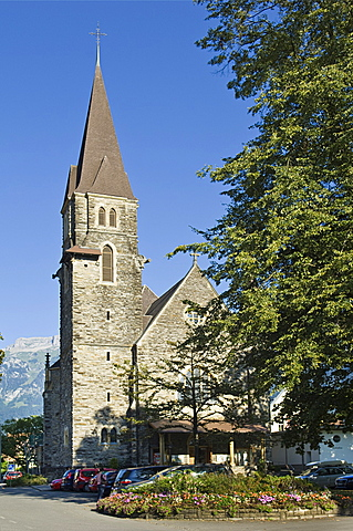 church of the convent, interlaken, switzerland