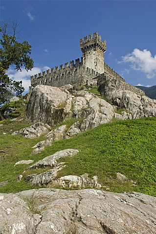 sasso corbaro castle, bellinzona, switzerland