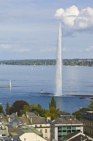 lake and jet d'eau, geneva, switzerland