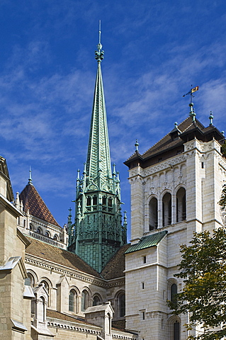 st. pierre cathedral outside, geneva, switzerland