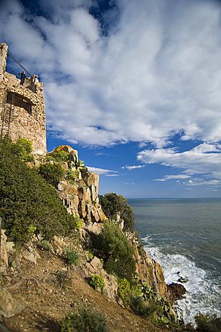 San Gemiliano Tower, Tortolì, Arbatax, Provincia Ogliastra, Golfo di Orosei, Sardinia, Italy