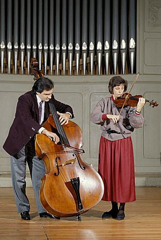 Musicians, Bergamo, Lombardy, Italy