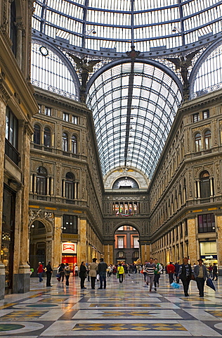 Umberto Gallery,Naples city,Campania,Italy,Europe.