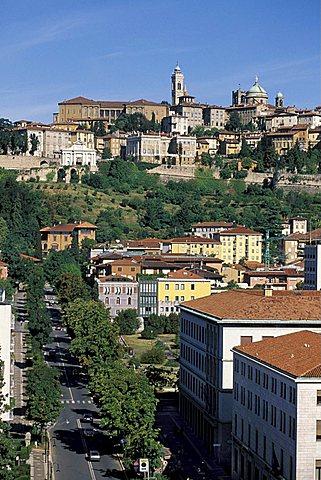 Cityscape, Bergamo, Lombardy, Italy