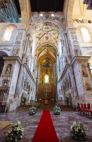 Cathedral, Cefalvp, Sicily, Italy, Europe