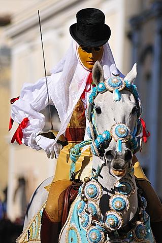 Sardinia. Oristano. Sa Sartiglia feast