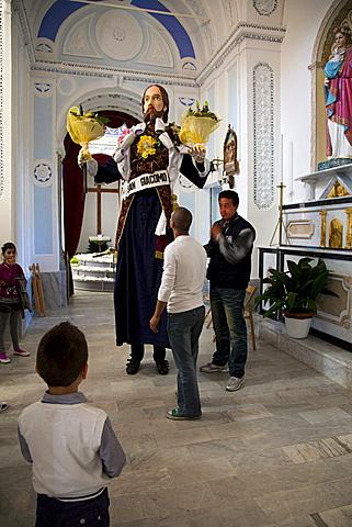 Barrafranca village, I Santuna, religious feast, Sicily, Italy, Europe