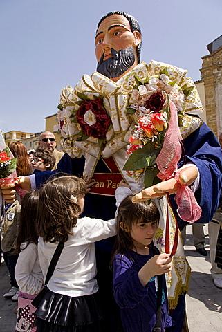 Barrafranca, religious feast, Sicily, Italy, Europe