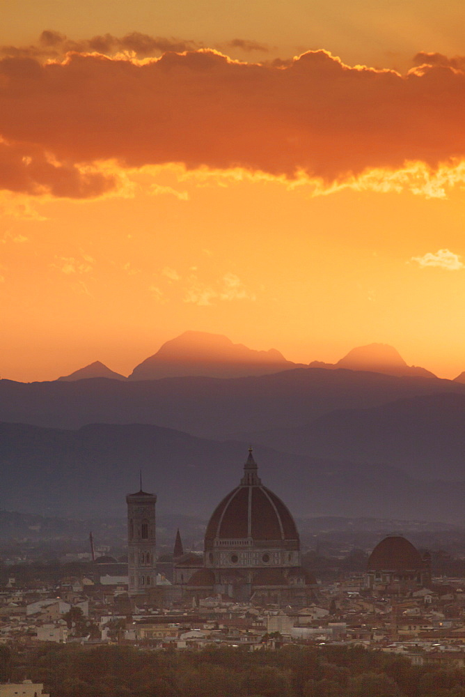 The Cathedral of Florence at sunset,Tuscany, Italy, Europe