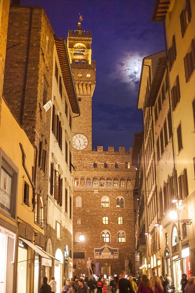 Palazzo Vecchio, Piazza della Signoria square, Florence, Tuscany, Italy, Europe