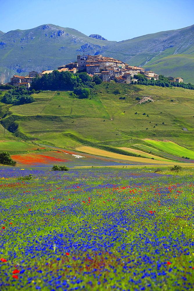 Landscape, Castelluccio di Norcia, Umbria, italy,Europe