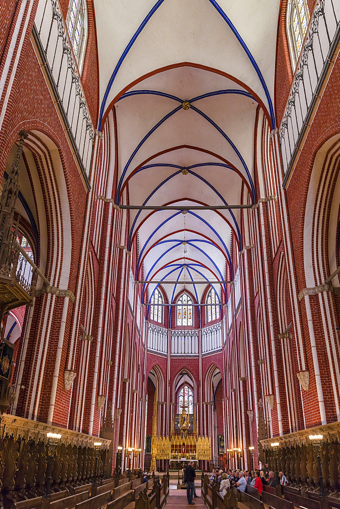 The minster in Bad Doberan near Rostock. A masterpiece build in north german brick high gothic style.  Europe,Germany, Rostock - 746-88155
