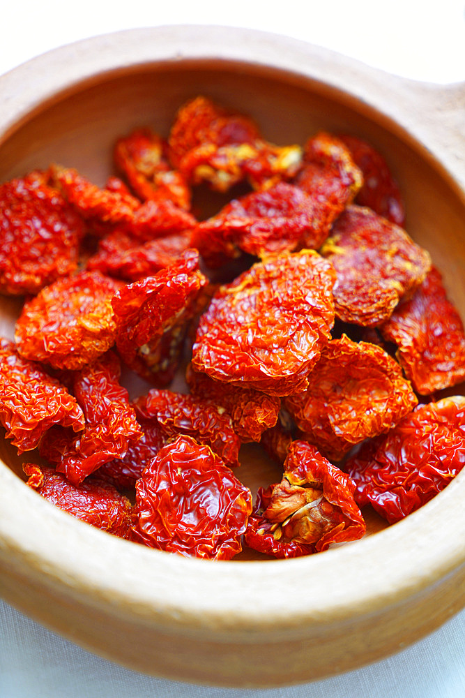 Traditional sundried cherry tomatoes from Sicily, Italy, Europe