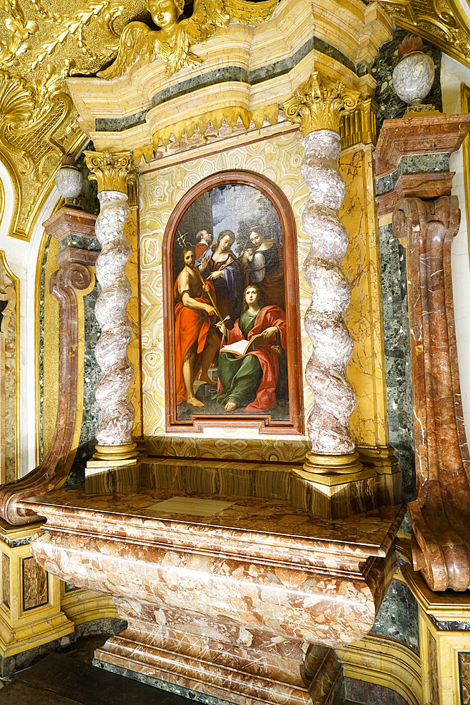 The Chapel of San Brizio, frescoed mainly by Luca Signorelli and recently restored, Cathedral Basilica of Santa Maria Assunta is the main Catholic place of worship in Orvieto, and a masterpiece of Gothic architecture in Central Italy, Umbria, Italy, Europe