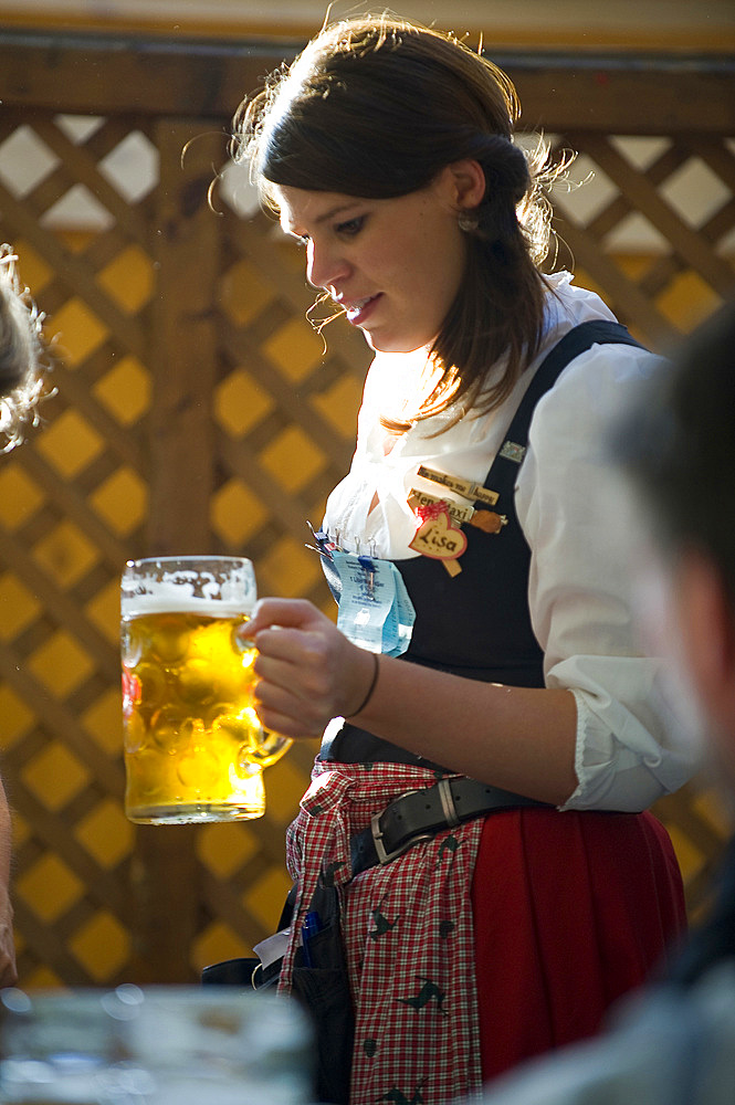 Oktoberfest, traditional german beer festival, Munich, Baviera, Germany, Europe