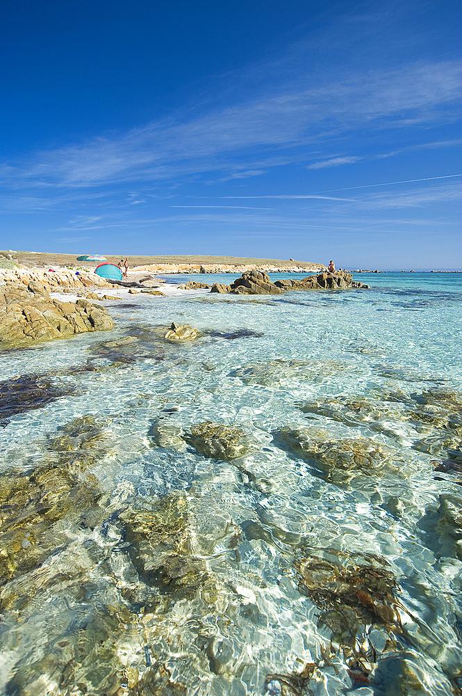 Cala Saline, Mal di Ventre Island, Cabras, Sardinia, Italy, Europe
