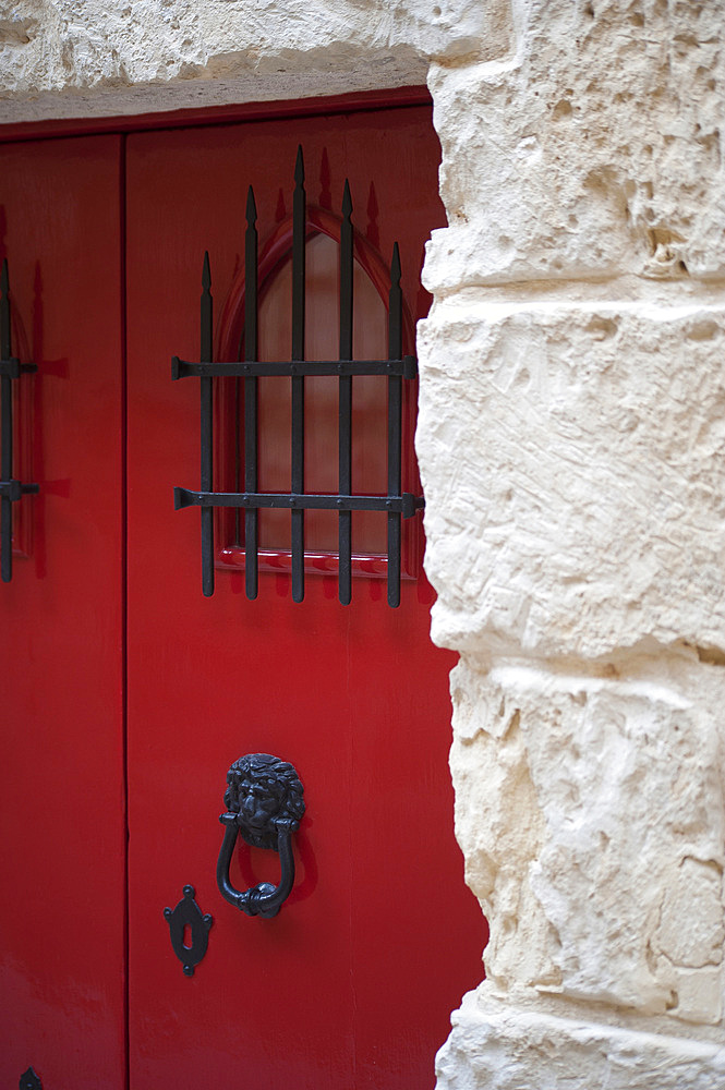 Door, detailed, Medina, LMdina, Malta Island, Mediterranean Sea, Europe