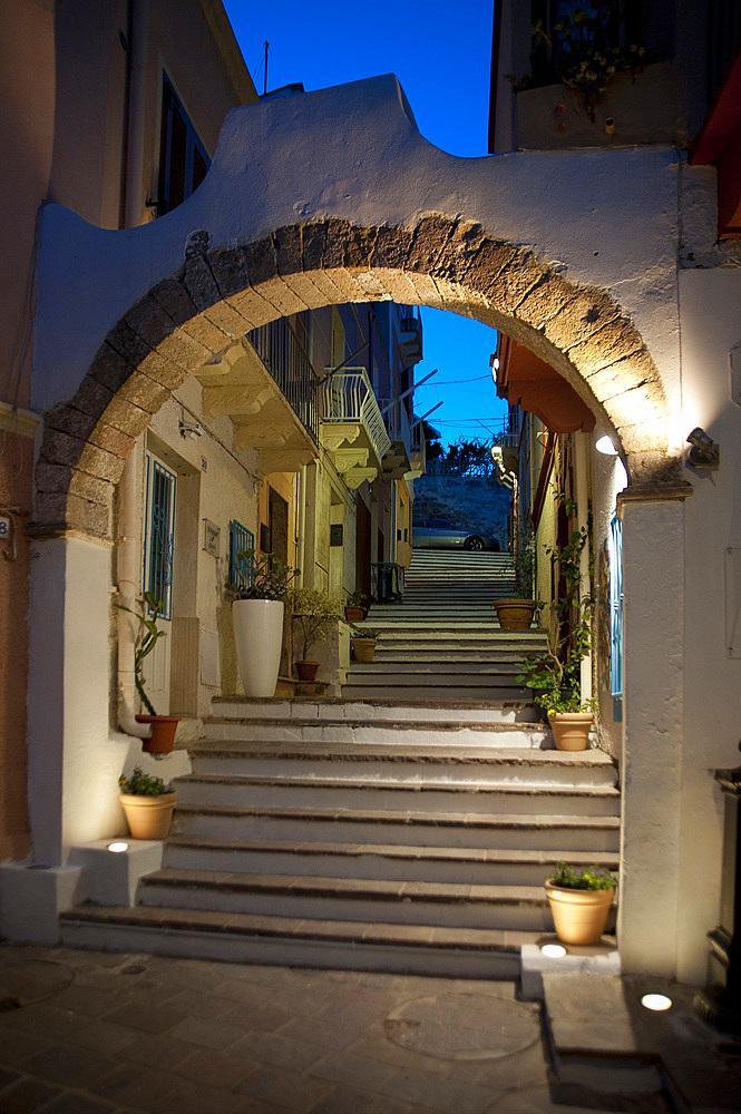 Via Solferino, Carloforte, Island of San Pietro, Sardinia, Italy, Europe