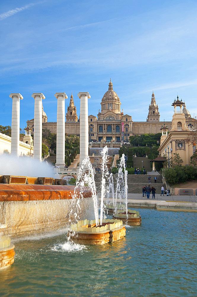 Font Màgica, Montjuïc, Barcelona, Catalonia, Spain, Europe