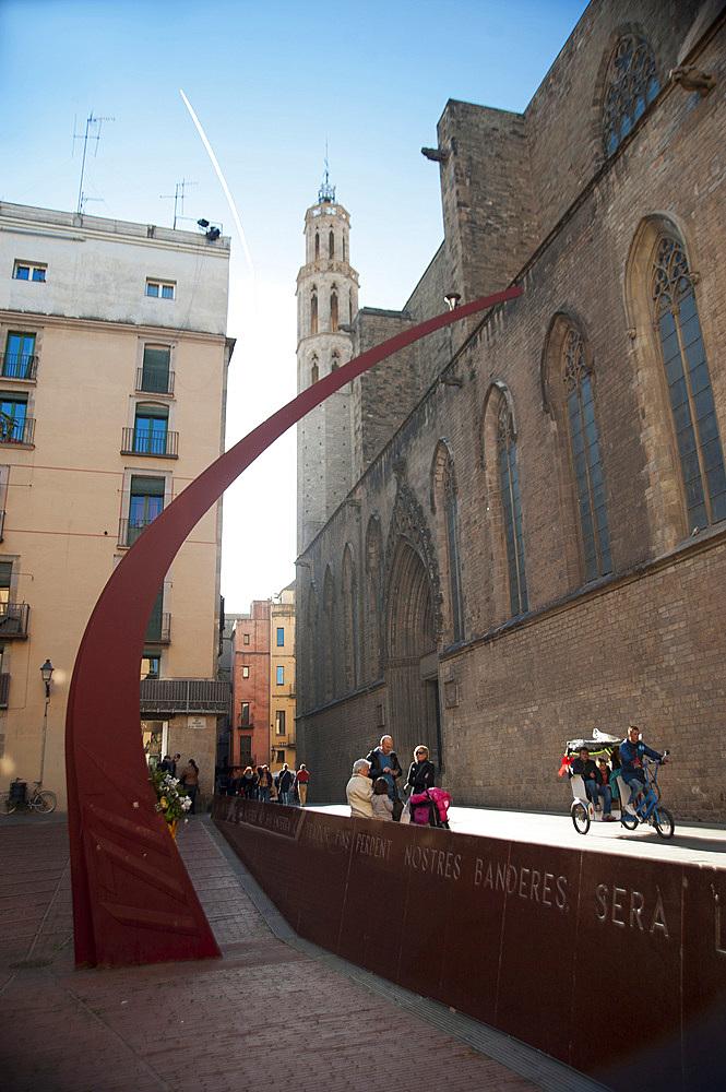 Fossar de les Moreres, Barcelona, Catalonia, Spain, Europe