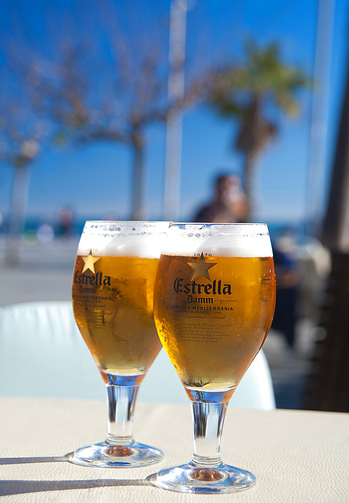Cerveza in Barceloneta, Barcelona, Catalonia, Spain, Europe