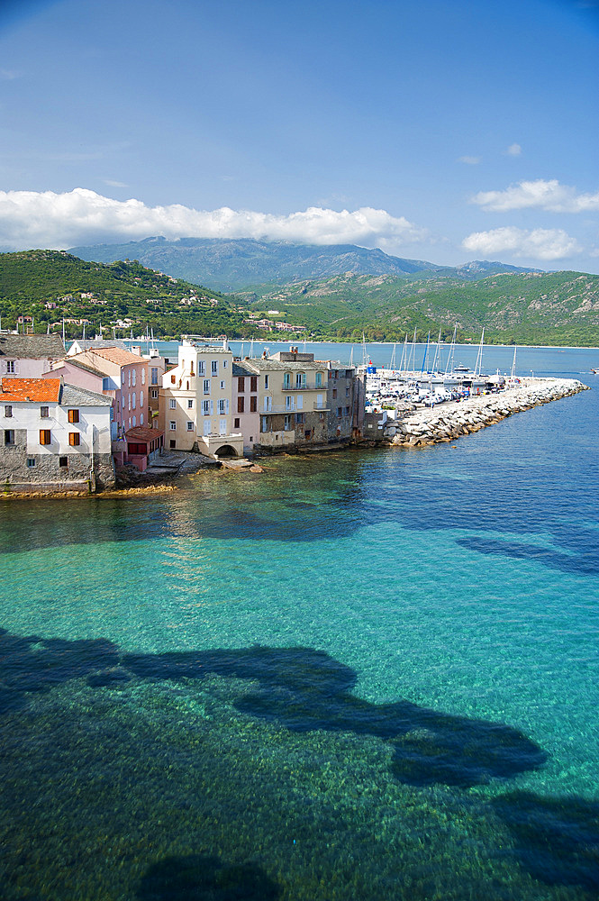 Cityscape of Saint-Florent, Haute-Corse, Corsica, France, Europe