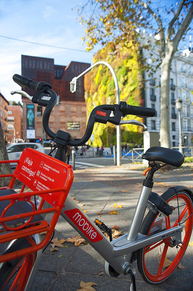 Bike Rent, Caixa Forum, Madrid, Spain, Europe