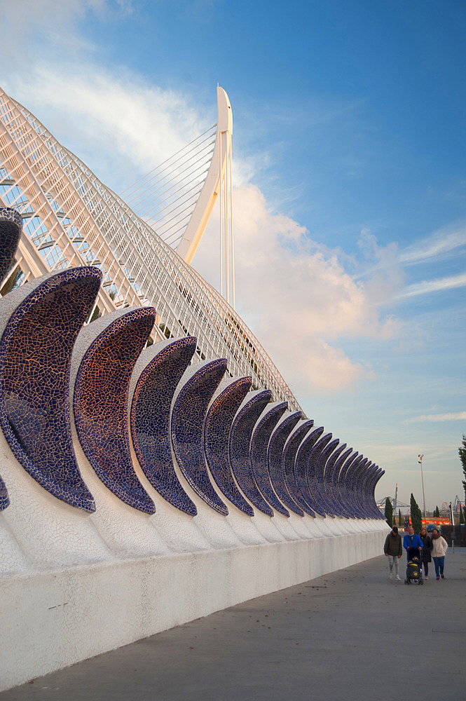 L'Umbracle, Ciutat de les Arts i les Ciències, Valencia, Spain, EuropeValencia; Park; Modern; Build; Spain; Europe; Cityscape; Museum; Oceanographic; Hemisferic; Architecture; Bridge; Sail; Reina; Palace; Square; Building; Business; Art; Science; City; Calatrava; Candela; Christmas; Xmas; Horizontal; Vertical
