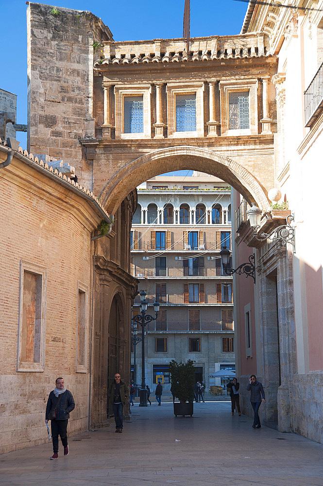 Passaje de Emili Aparicio Olmos, Plaza de Almojna, Valencia, Spain, Europe