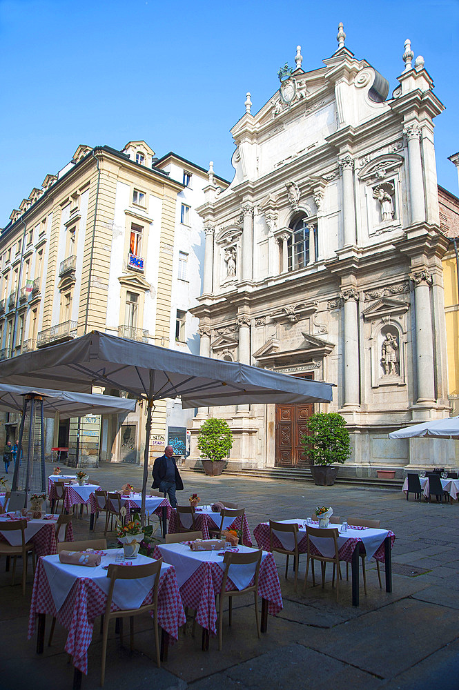 Piazza Corpus Domini, historic city center, Turin, Piedmont, Italy, Europe