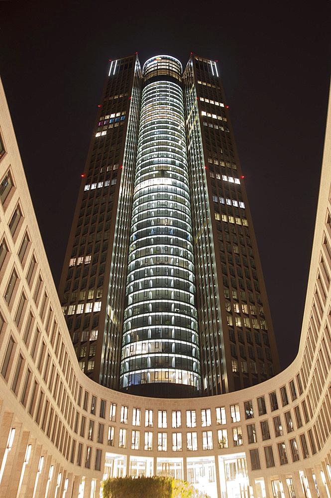 Tower 185, Frankfurt am Mein, Frankfurter skyline, Frankfurt, Hesse, Germany, Europe